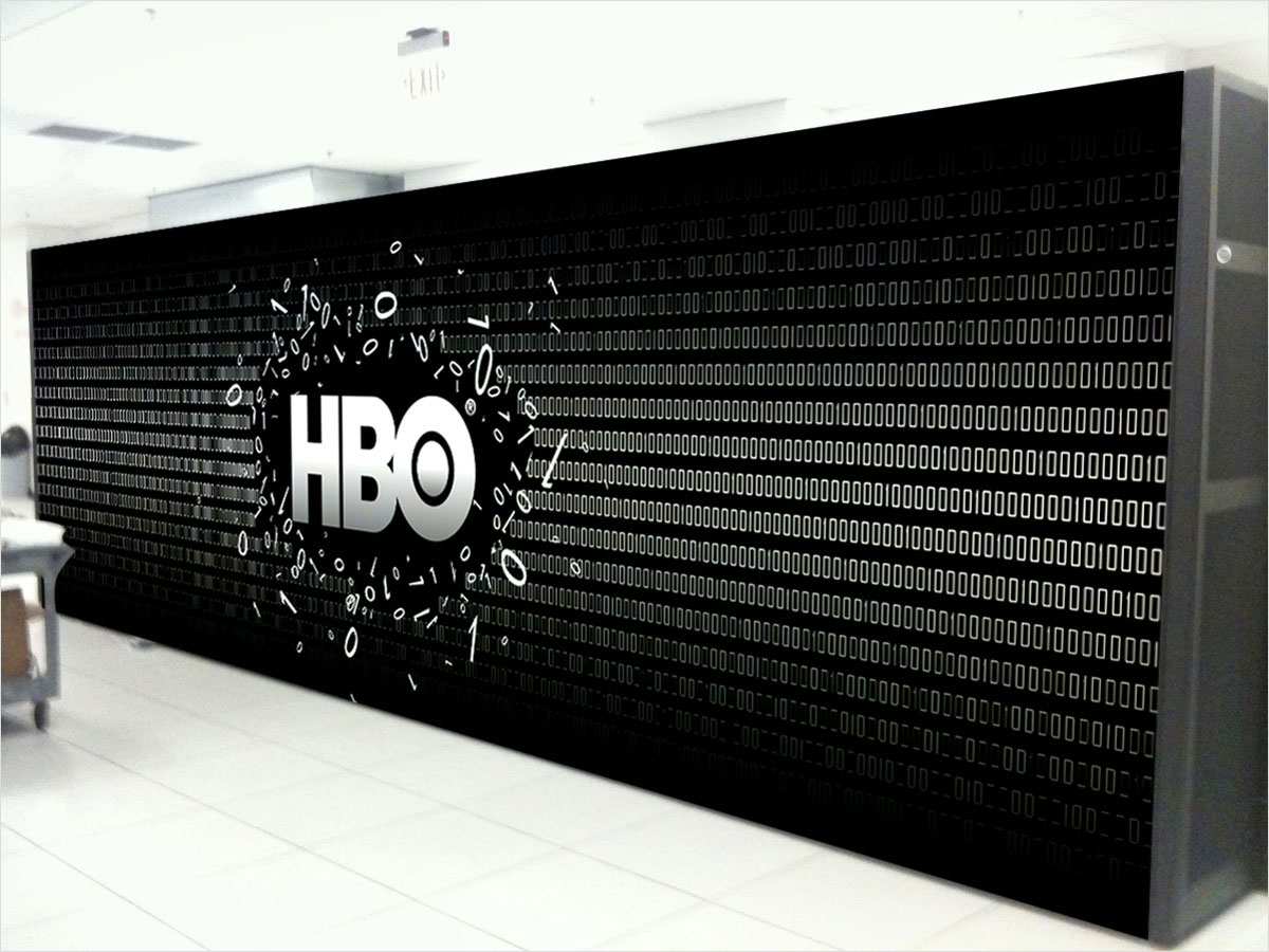 HBO Digital Mural Design