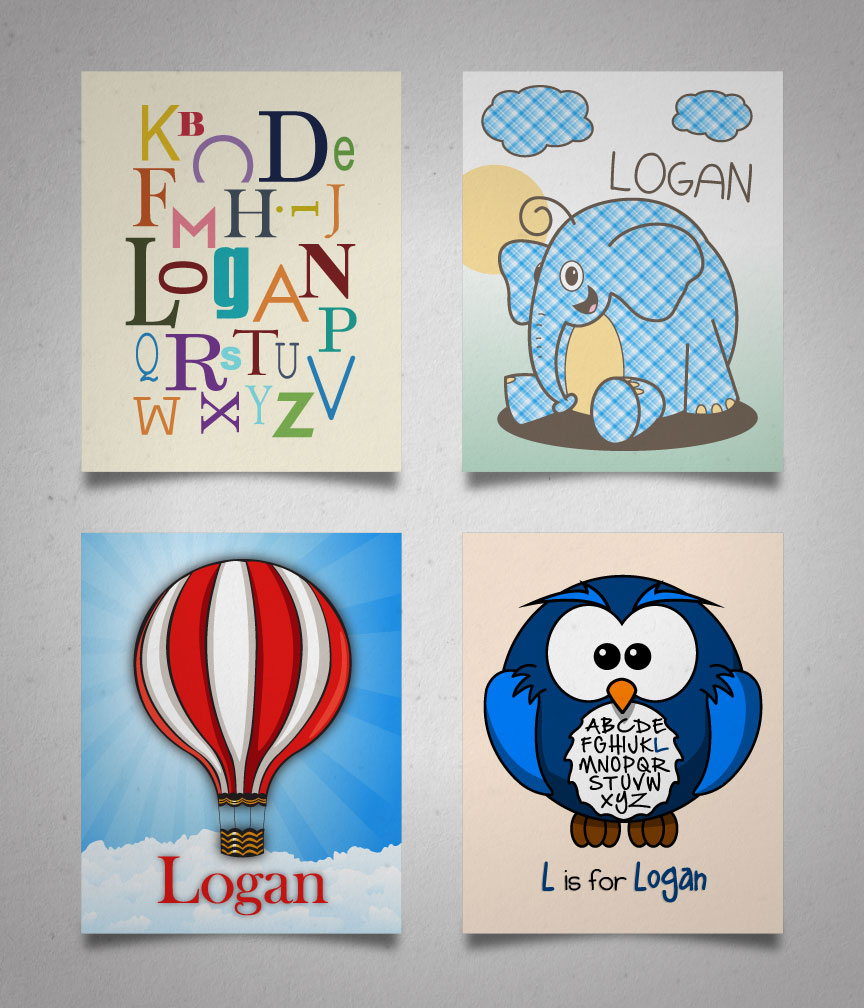 "Nursery Wall Prints (8"" x 10"")"