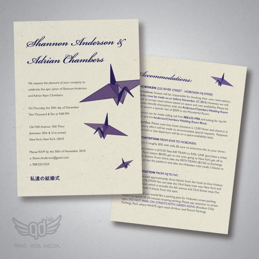 Chambers Wedding Invitations