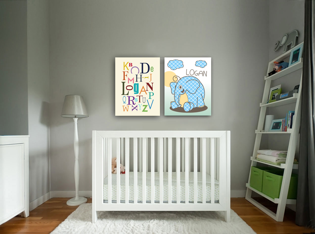 Nursery Wall Prints - Logan